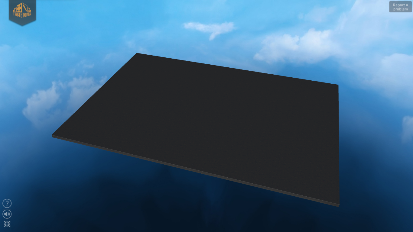 Example of the default table placed in the Clouds skybox