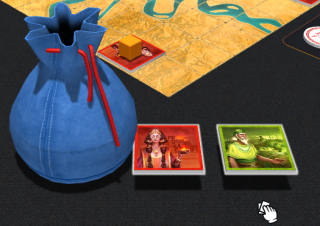 Note that when the objects are taken from the bag with a help of the mouse wheel action Take, they are visible to all players.