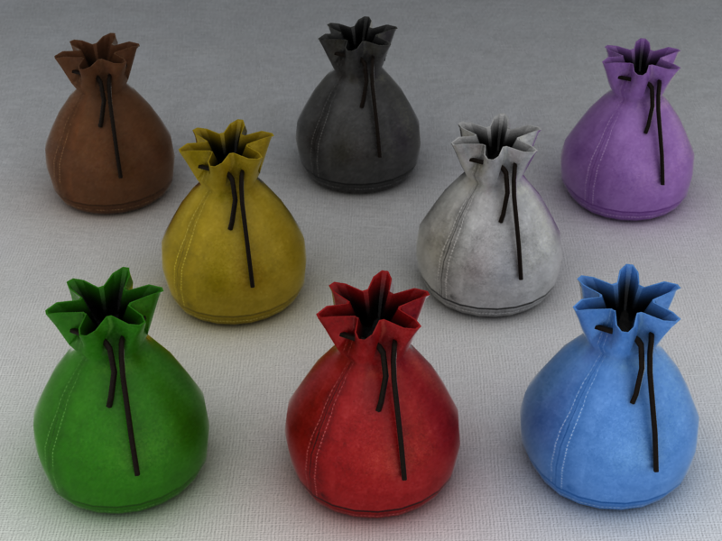 Bags of 8 colors available in Tabletopia