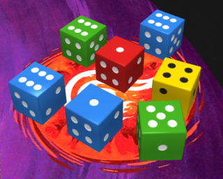 Dice in the game Five Seals of Magic