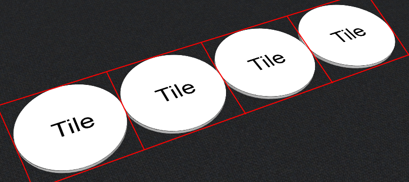 Example of sticky round tiles in Tabletopia