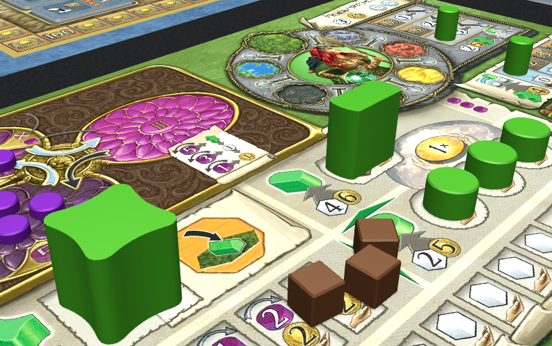 Tokens may be used to make some game pieces with complex form in Terra Mystica