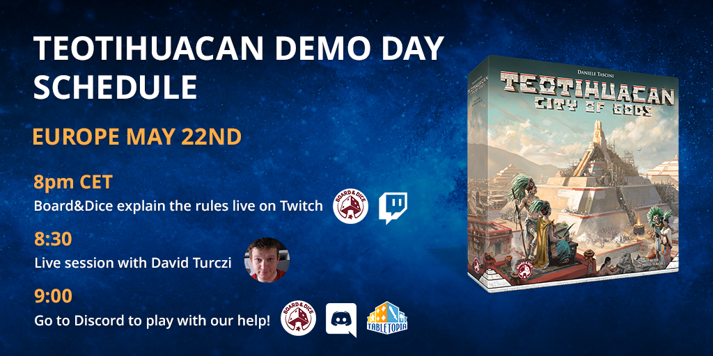 Teotihuacan Demo Day Schedule Europe